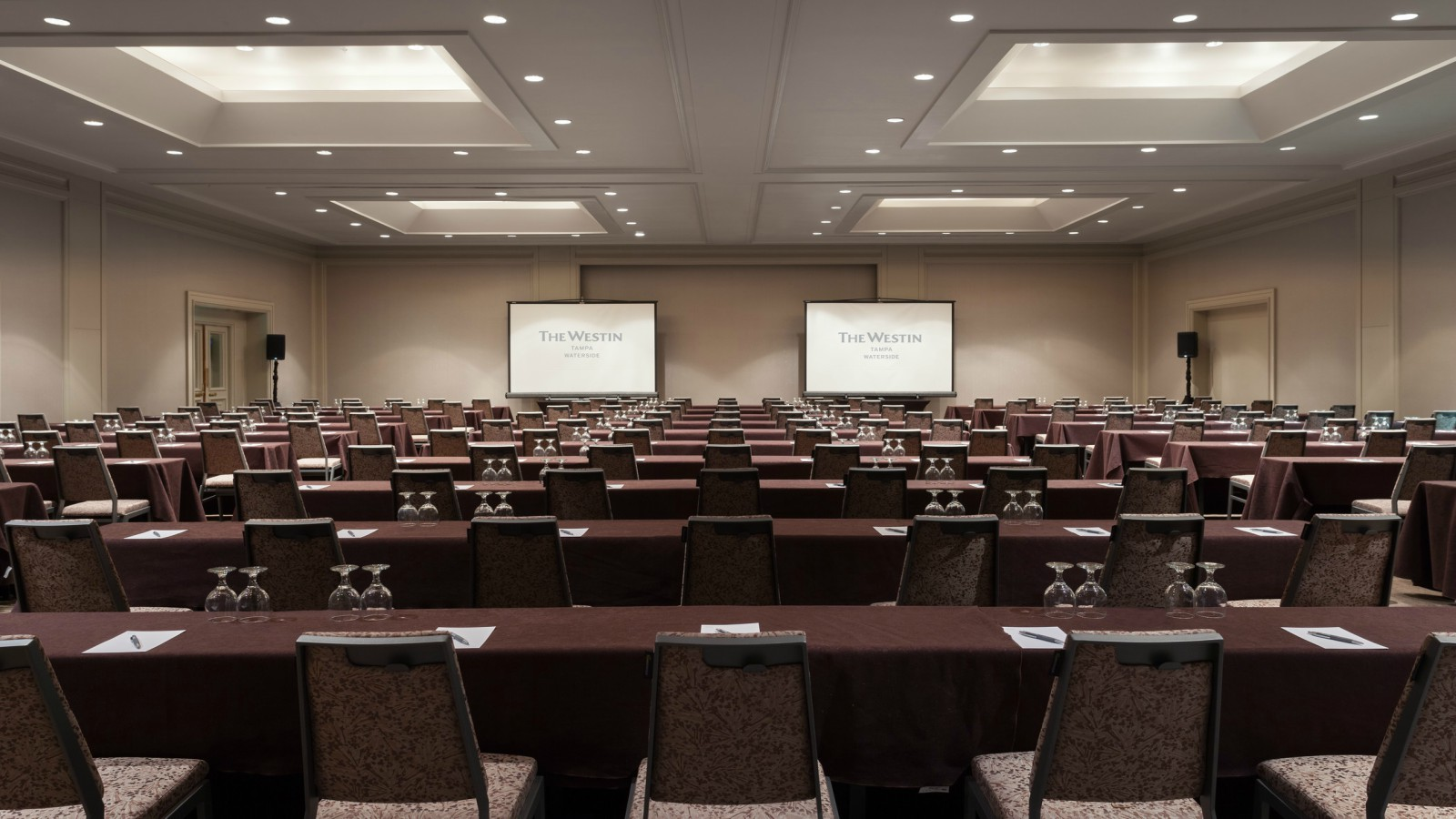 The Westin Tampa Waterside - Newly Refreshed Ballroom Classroom Setup